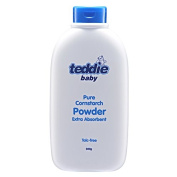 MUST BUY ! 4 Bottle COSWAY Teddie Baby Pure Cornstarch Powder Extra Absorbent