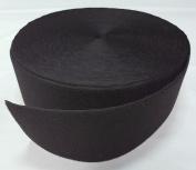 10cm BLACK SEW-ON HOOK and LOOP FASTENER - LOOP SIDE ONLY - 1 YARD