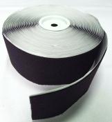 10cm BLACK SELF-ADHESIVE ACRYLIC HOOK and LOOP FASTENER - LOOP SIDE ONLY - 1 YARD