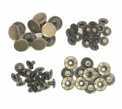 ALL in ONE Copper Press Studs Snap Fasteners Poppers Sewing Clothing Snaps Button