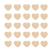 Jesica 2 Holes Heart Wooden Buttons Sewing Button Accessory
