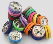 Enking DIY Craft Alloy Buttons Snap Fasteners Poppers Press Stud 21mm