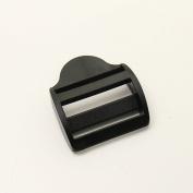 GENCASE 10 Pieces Curve Black Tri-Glide Strap Adjusters Plastic Nylon Webbing Strap Secure