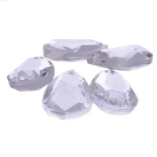Acrylic Transparent Chandelier Crystals - Faceted Teardrop prism Shape - Full Reversable
