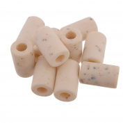 Tubular Shape Crafting Bead - 14mm x 23mm - Nylon Material - Ivory