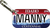 Personalised Idaho Centennial Zipper Pull State Licence Plate Replica