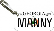 Personalised Georgia 2007 Zipper Pull State Licence Plate Replica