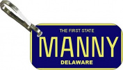 Personalised Delaware1969 Zipper Pull State Licence Plate Replica