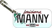 Personalised Louisana 2011 Zipper Pull State Licence Plate Replica