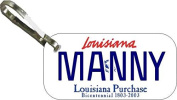 Personalised Louisana 2002 Zipper Pull State Licence Plate Replica