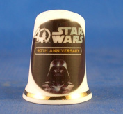 Porcelain China Collectable Thimble - Star Wars 40th Anniversary -- Free Gift Box