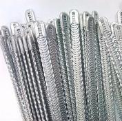 WellieSTR 4 Pcs Metal Spiral Boning Spiral Metal Boning for Corset 5mm W- 25cm