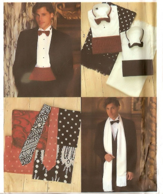 Men's accessories for formalwear / tuxedo - Style vintage sewing pattern 2385 Size S-XL