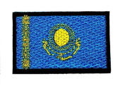 mini Kazakhstan Country Flag patch Ideal for adorning your jeans, hats, bags, jackets and shirts.