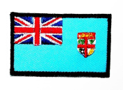 Mini Fiji Country Flag patch Ideal for adorning your jeans, hats, bags, jackets and shirts.