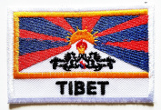 Tibet Tibetan North of the Himalayas National Flag patch Ideal for adorning your jeans, hats, bags, jackets and shirts.