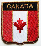Canada Flag Embroidered patch Ideal for adorning your jeans, hats, bags, jackets and shirts.