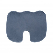 E-Living Store Memory Foam Coccyx Relief Cushion Pad for Office Chair, Wheelchair & Car Seat