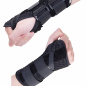Fittoo Wrist Support Hand Palm Brace #1 Compression Sleeve Wrist Support Brace - Recovery from Pain, Sprains, Carpal Tunnel, Bursitis, Tendonitis, Arthritis - Single