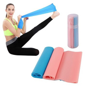 TORUBIA Exercise Resistance Bands Stretching Yoga Bands 1.5m Perfect For Home and Outdoor Training Exercise Stretch For Tone Legs Ankle Arms Thigh Gym Pilates Physical Therapy Warm Up Activities