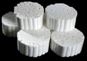 500 PCS Cotton Rolls #2 Medium 1cm x 3.8cm Non-Sterile 100% Natural Cotton High Absorbent Cotton