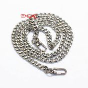 M-W 100cm DIY Iron Flat Chain Strap Handbag Chains Accessories Purse Straps Shoulder Cross Body Replacement Straps, with 2pcs Metal Buckles Style1
