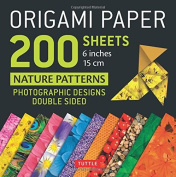 """Origami Paper 200 sheets Nature Patterns 6"""" (15 cm): Tuttle Origami Paper"""