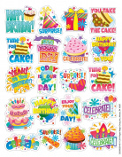 Eureka Birthday Stickers, Theme