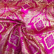 Metallic Floral Brocade Fabric 150cm By Yard in Red Gold White Purple Blue Green