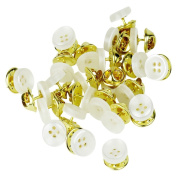 Evelots 24 Instant Buttons, Shirt, Blouse, Collar & Sleeve Buttons, Imitation Pearl
