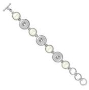 Ginger Snaps 3 Snap Pearl Bracelet SN92-27