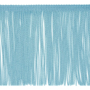 15cm Chainette Fringe Trim Light Blue Fabric By The Yard