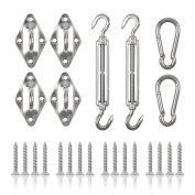 Colorfog Shade Sail Hardware Kit for Rectangle and Square Sun Shade Sail
