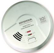 USI 3-IN-1 TAMPER PROOF SMOKE, FIRE, AND CARBON MONOXIDE SMART ALARM WITH 10 YEAR SEALED BATTERY, BATTERY OPERATED