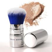 Kabuki Brush, Retractable Makeup Foundation Kabuki Brush with Synthetic Fibre Hair