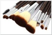 JD Million shop Professional Makeup Brush Set 12pcs High Quality Makeup Tools Kit Violet