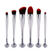 MAANGE 6pcs Shell Shaped Makeup Brush Set Professional Foundation Powder Blush Cosmetics Brushes Kit