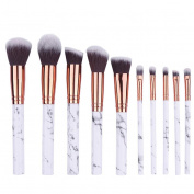 Highpot Marble Design Makeup Brushes 10Pcs Multifunctional Makeup Brush Concealer Eyeshadow Brush Set Tool