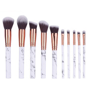 10PCS Beauty Multifunctional Makeup Brush Sets Professional Cosmetic Tools with Eyebrow Eyeliner Blushs by PSFS