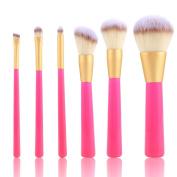 Lisin 6PC Make Up Foundation Eyebrow Eyeliner Eye Shadow Blush Cosmetic Concealer Brushes