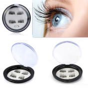 Lingery NEW 3D False Eyelashes Ultra-thin 0.2mm Magnetic Eye Lashes 3D Reusable False Magnet Eyelashes