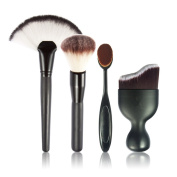 RoseFlower 4pcs Foundation Brush - Essential Make Up Tools Kit for Professional and Personal Use