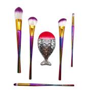 Pulison(TM) 7PCS Make Up Foundation Eyebrow Eyeliner Blush Cosmetic Concealer Brushes