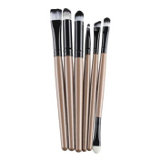 Fabal 6PCS Cosmetic Makeup Brush Lip Makeup Brush Eyeshadow Brush