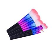 LAIXI Beauty Colour Changing Makeup Brushes Colourful Makeup Brushes Set, 7 Pcs Powder Foundation Contour Blending Blush Eyeshadow Brushes Kit for Makeup