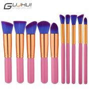 Snowfoller Fashion Cosmetic brush Professional Face Eye Shadow Eyeliner Foundation Blush Lip Powder Makeup Brushes Kit 10 PCS Easy for New Hand
