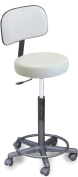 910 E Spa Aesthetician WHITE Stool w/Adjustable heigth & Back support Made in USA by Dina Meri