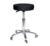 Antlu Black Adjustable Hydraulic Rolling Swivel Barber Salon Stool Chair, Not Sticky Hair