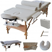 Goplus 210cm l Massage Table Portable Facial SPA Bed W/sheet+cradle Cover+2 Bolster+hanger