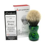 Shavemac 2 Band Silvertip Badger Shaving Brush TJ1